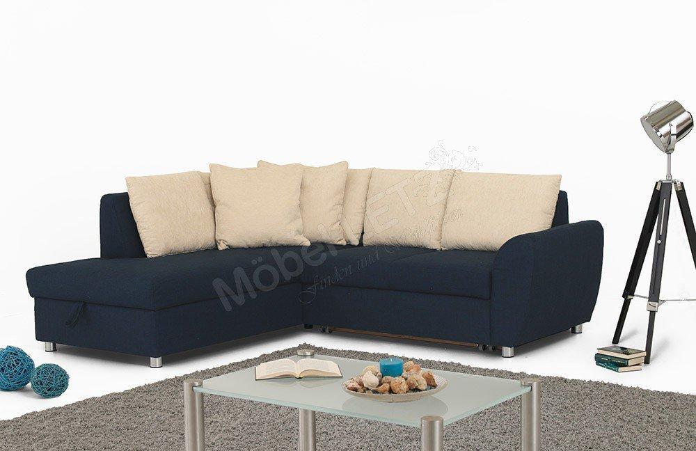 Poco Polstermöbel Multiflexx / Allround Ecksofa blau-beige | Möbel ...