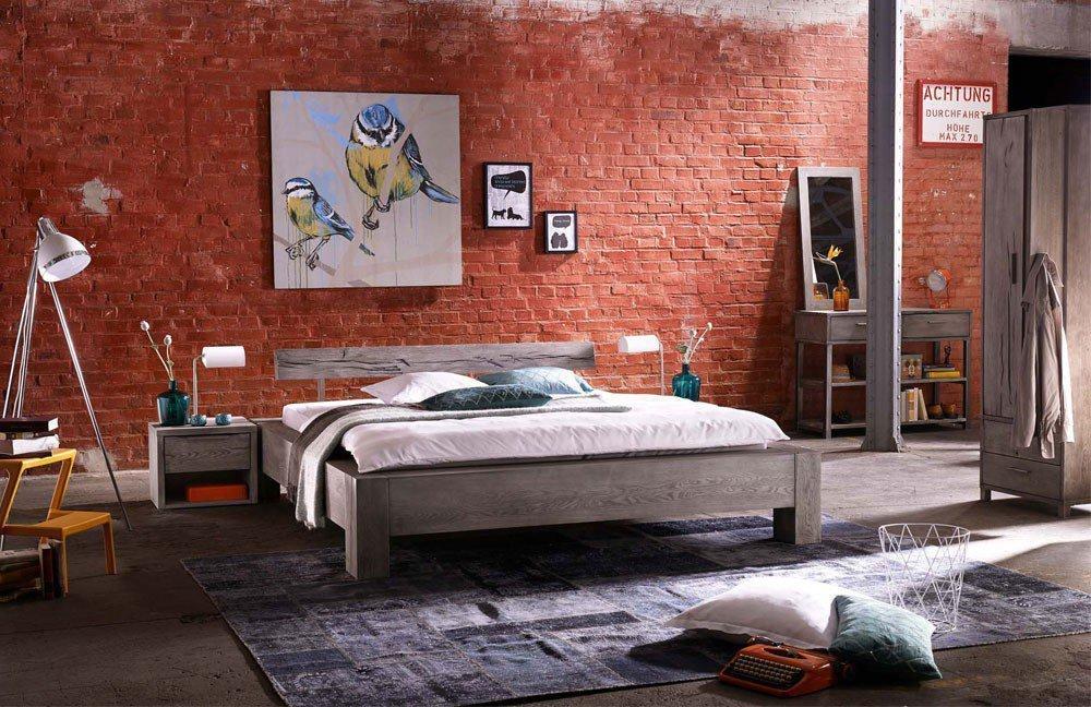 Tjørnbo Heavy Sleep Bett Eiche grau | Möbel Letz - Ihr Online-Shop
