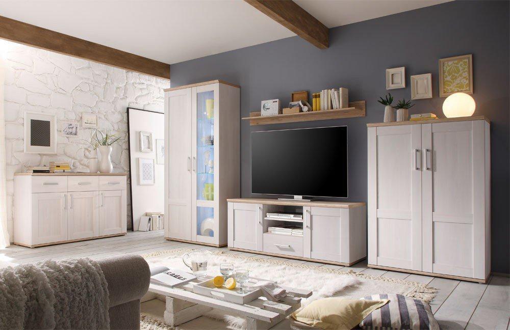 Wohnwand larche grau neues weltdesign 2018 - Schlafzimmer in brauntonen ...
