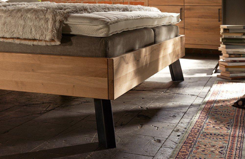 pure natur systembett eiche fu eisen black antique. Black Bedroom Furniture Sets. Home Design Ideas