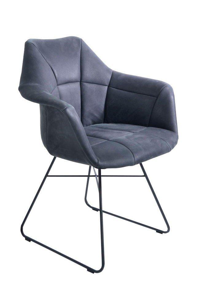 k w polsterm bel stuhl 6257 kufen anthrazit m bel letz. Black Bedroom Furniture Sets. Home Design Ideas