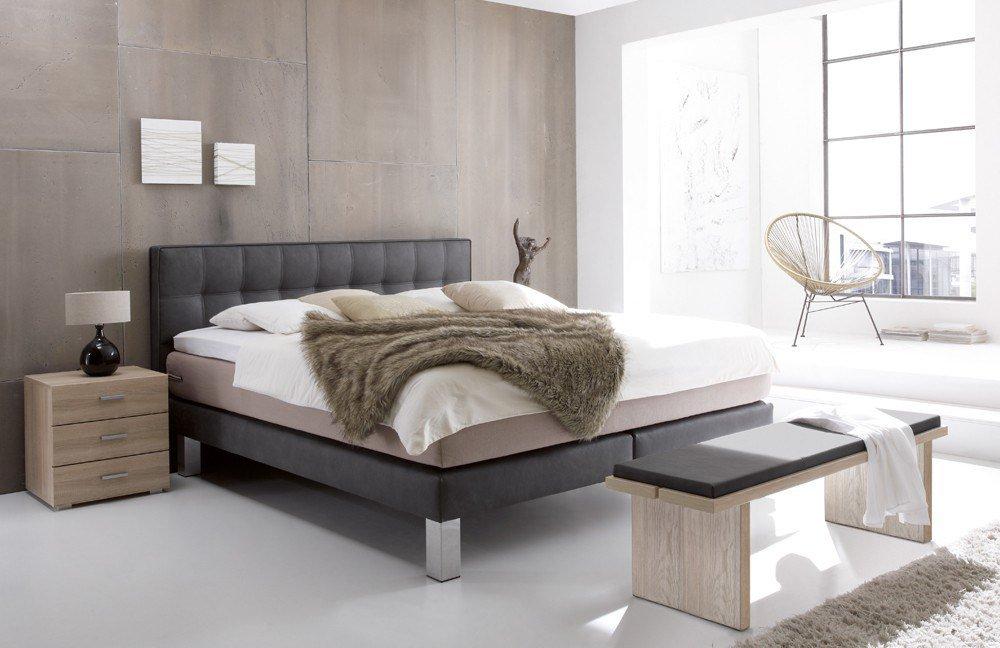 Hasena Modern Boxspringbett in Carbon/ Taupe | Möbel Letz - Ihr ...