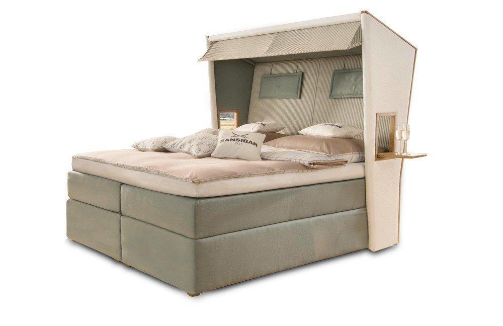 sansibar boxspringbett strandkorb rugbyclubeemland. Black Bedroom Furniture Sets. Home Design Ideas