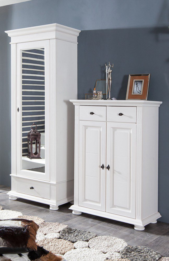 bfk m bel leona garderobe in naturwei m bel letz ihr. Black Bedroom Furniture Sets. Home Design Ideas
