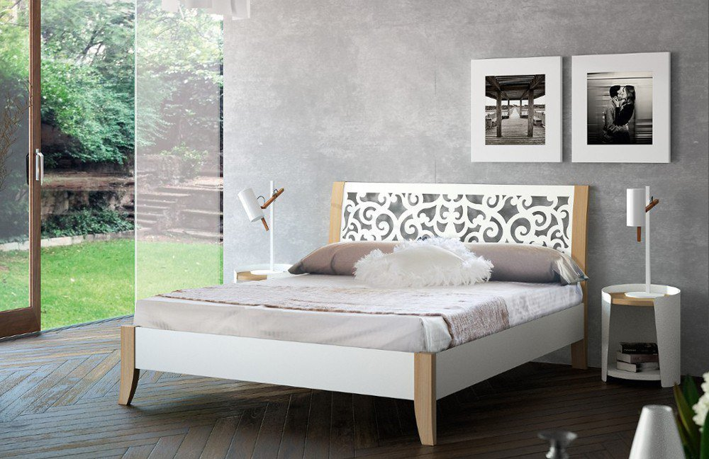 metallbett wei. Black Bedroom Furniture Sets. Home Design Ideas