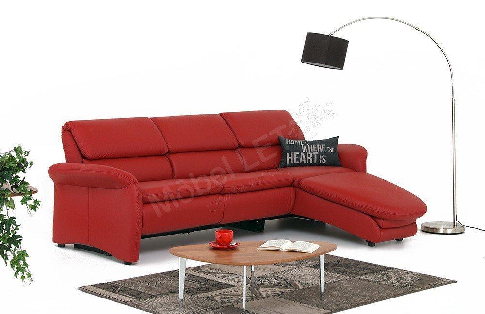 pm oelsa ledersofa san rafael in rot m bel letz ihr online shop. Black Bedroom Furniture Sets. Home Design Ideas