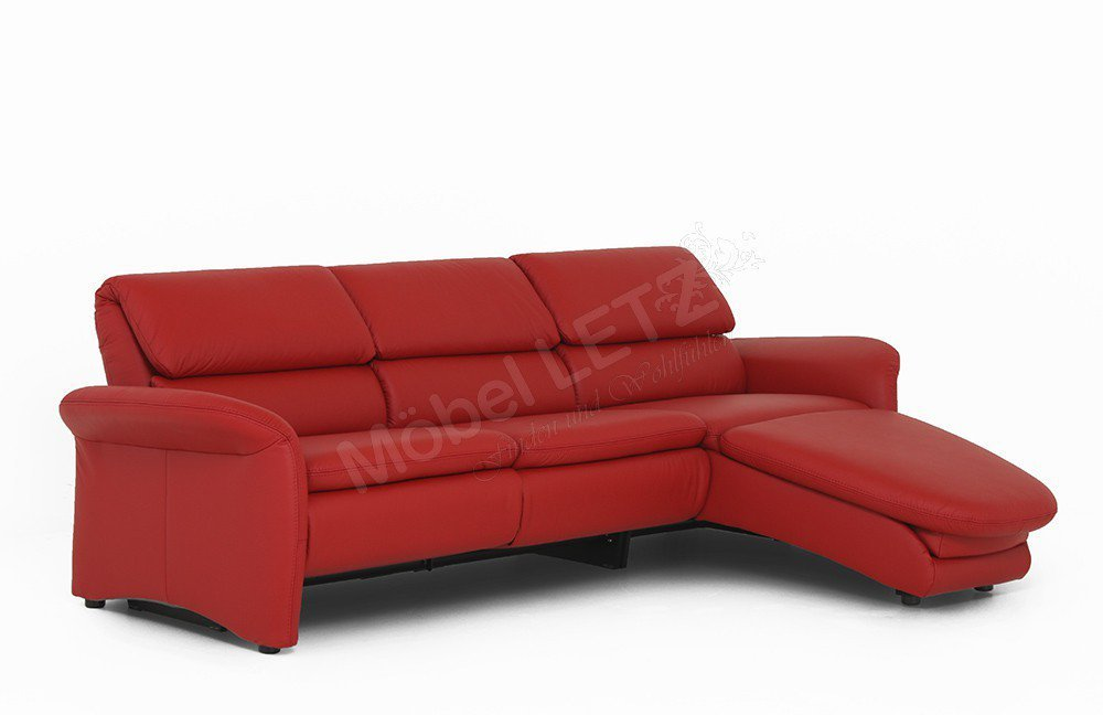 PM Oelsa Ledersofa San Rafael in Rot   Möbel Letz - Ihr Online-Shop