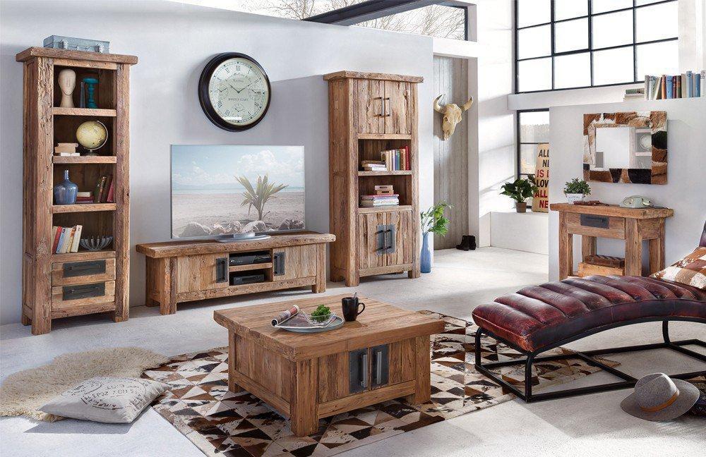 wohnwand coral recyceltes teakholz m bel letz ihr online shop. Black Bedroom Furniture Sets. Home Design Ideas