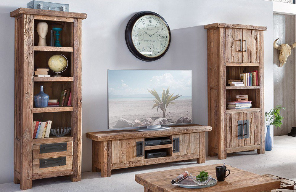 sit m bel wohnwand coral recyceltes teakholz m bel letz ihr online shop. Black Bedroom Furniture Sets. Home Design Ideas