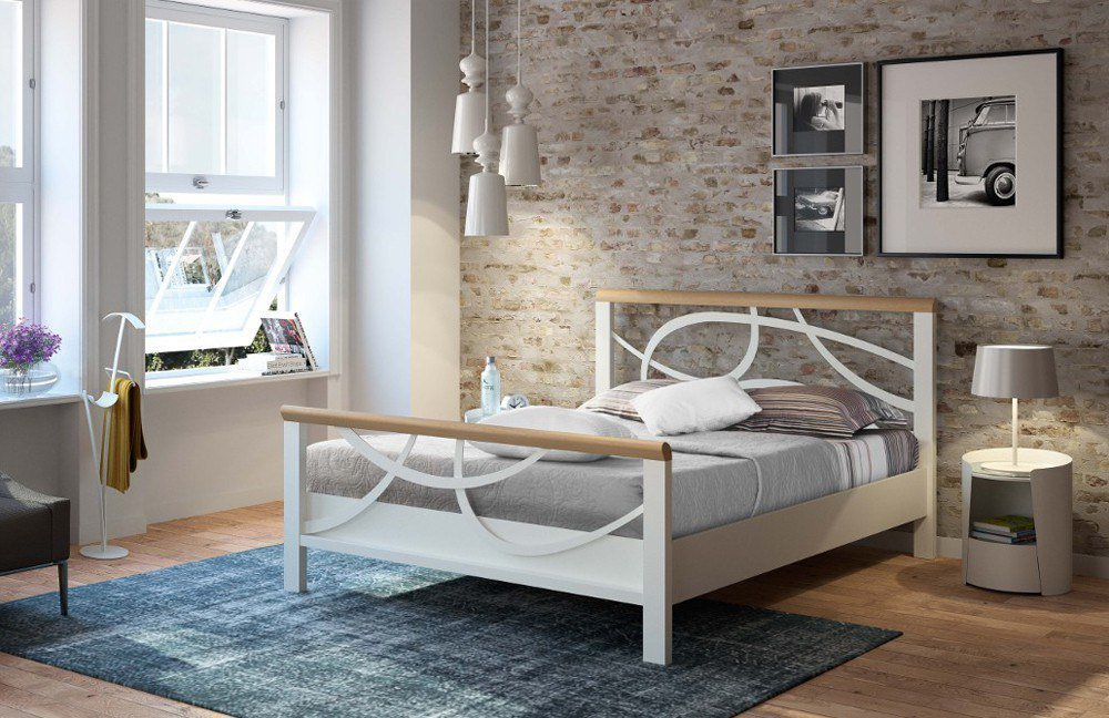 r sistub lauren bett wei eiche natur m bel letz ihr online shop. Black Bedroom Furniture Sets. Home Design Ideas