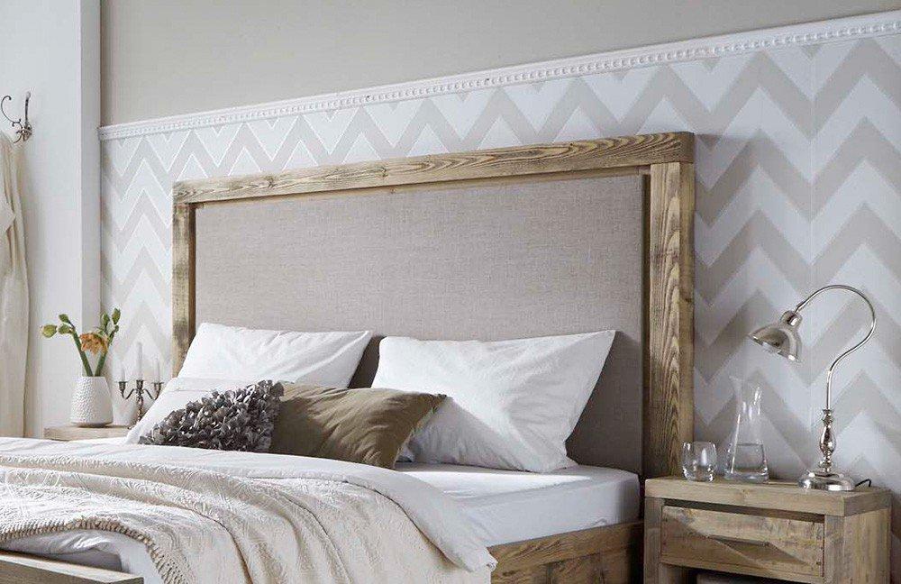 pure natur unikat bett grau gewachst m bel letz ihr. Black Bedroom Furniture Sets. Home Design Ideas