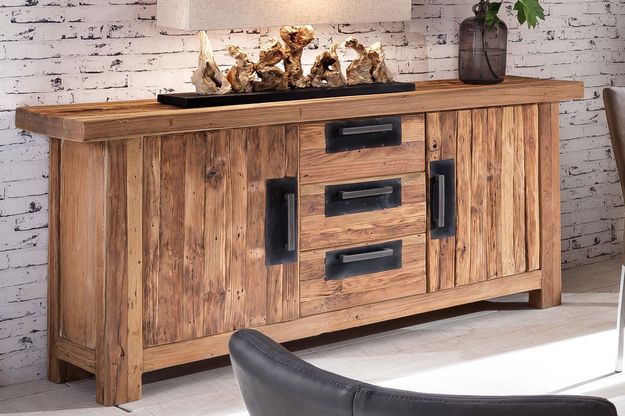 sit m bel sideboard coral recyceltes teakholz m bel letz ihr online shop. Black Bedroom Furniture Sets. Home Design Ideas