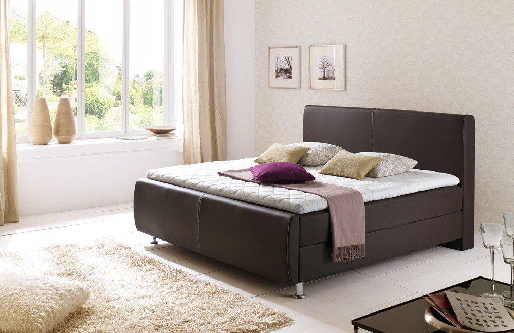 meise boxspringbett amadeo in braun mit ziernaht m bel letz ihr online shop. Black Bedroom Furniture Sets. Home Design Ideas