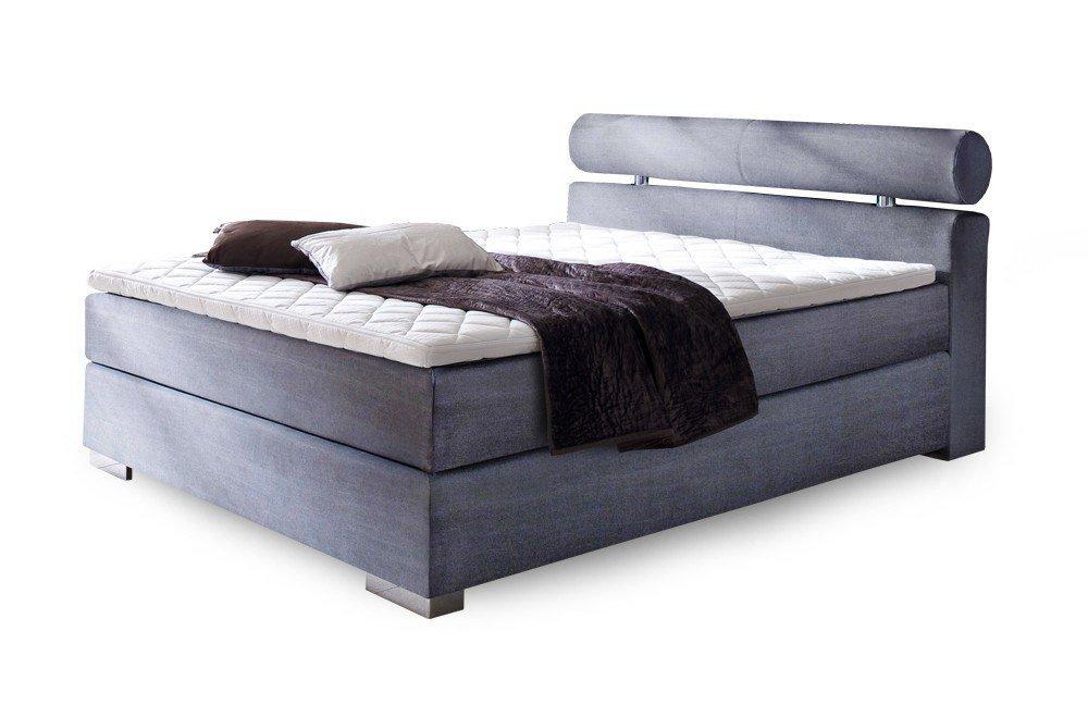 meise boxspringbett anello in blau mit chromfarbenen f en m bel letz ihr online shop. Black Bedroom Furniture Sets. Home Design Ideas