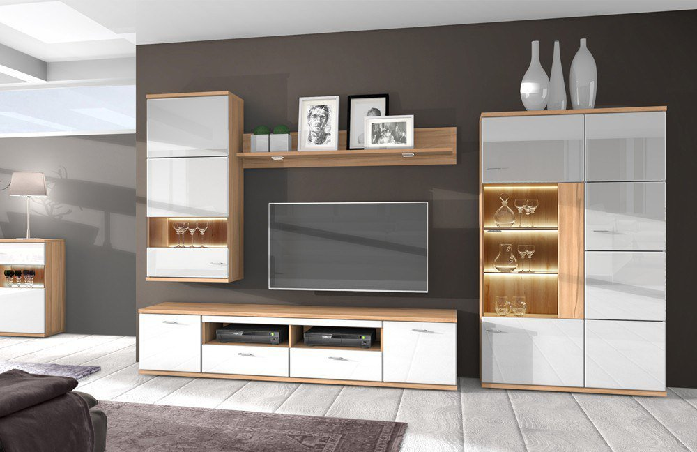 stralsunder wohnwand largo eb 33006 kernbuche wei m bel letz ihr online shop. Black Bedroom Furniture Sets. Home Design Ideas