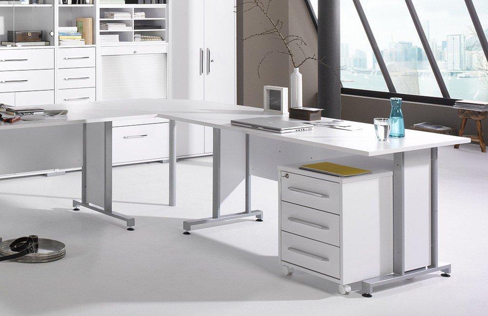 Maja Büromöbel System Komplettset weiß | Möbel Letz - Ihr Online-Shop