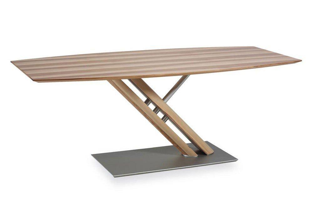 esstisch k w polsterm bel 7829 satin nussbaum bootsf rmig. Black Bedroom Furniture Sets. Home Design Ideas