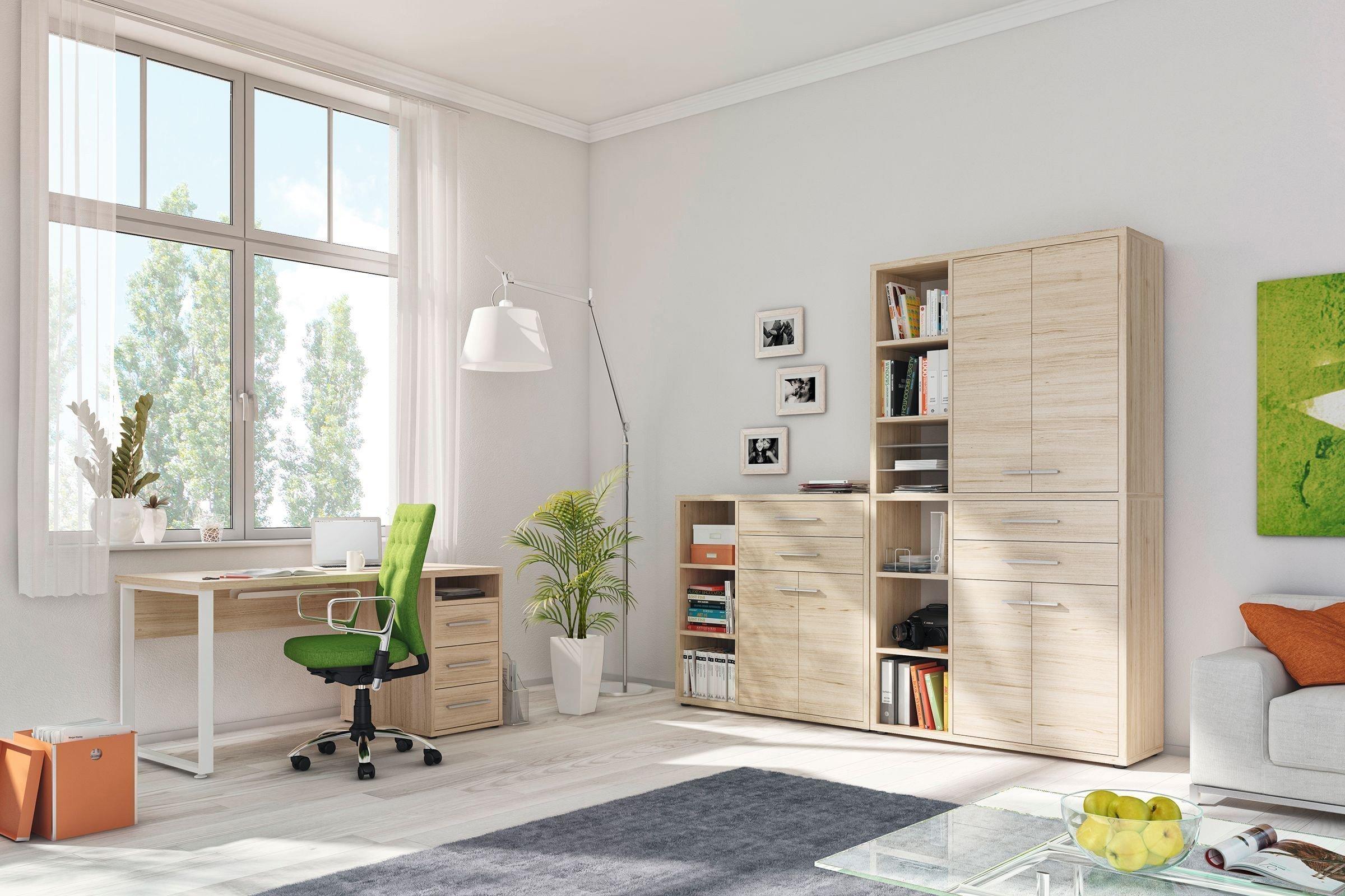 Maja Büromöbel Set+ in Eiche natur | Möbel Letz - Ihr Online-Shop