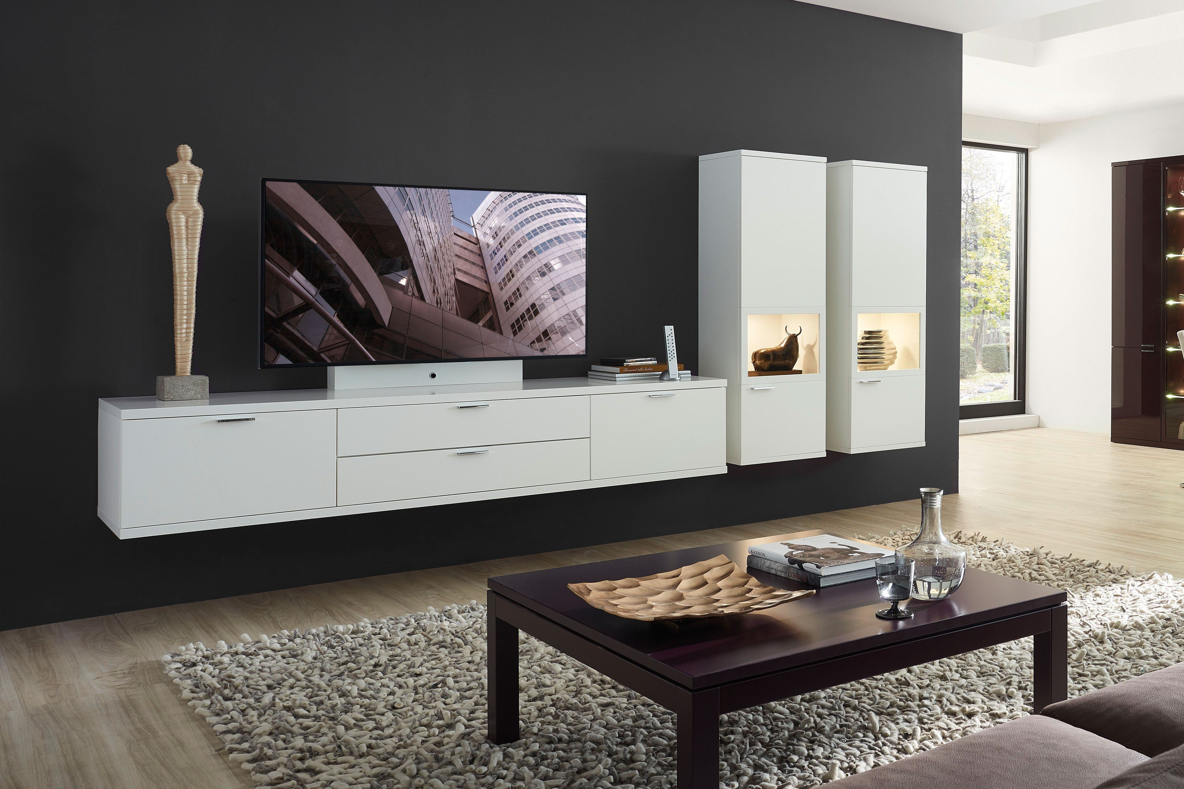 rietberger wohnwand siena celesta wei matt m bel letz ihr online shop. Black Bedroom Furniture Sets. Home Design Ideas