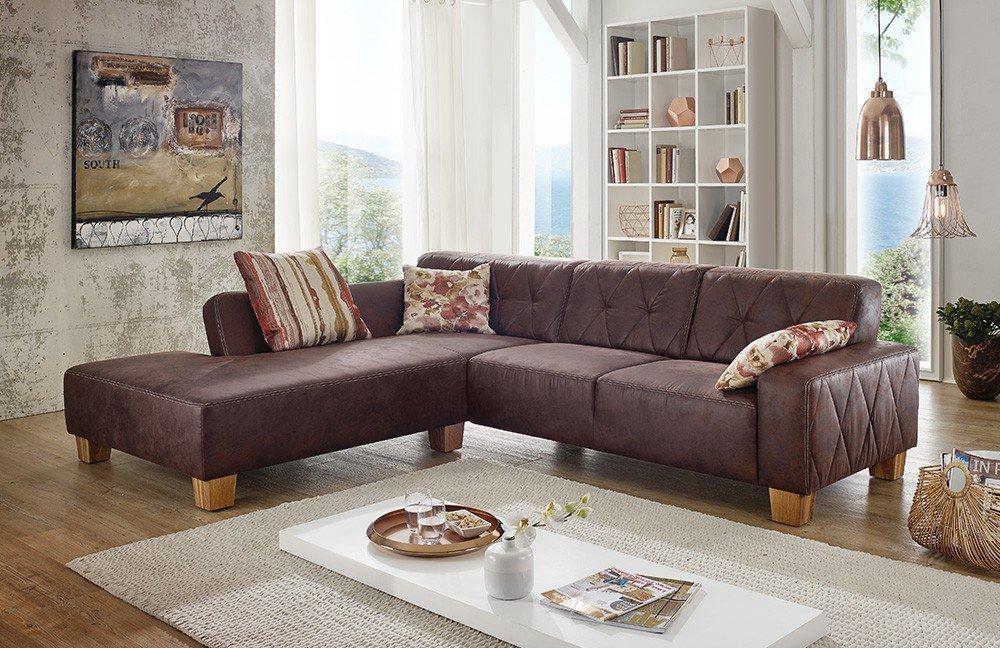 f s polsterm bel 264 vienna eckgarnitur braun m bel letz. Black Bedroom Furniture Sets. Home Design Ideas