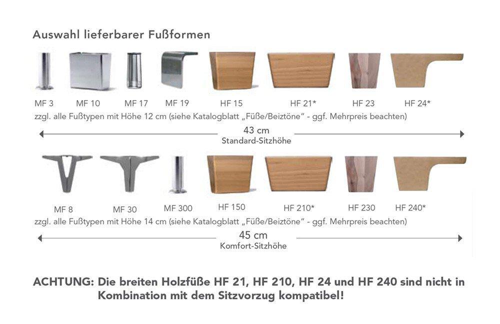 F+S Polstermöbel 264 Vienna Eckgarnitur braun   Möbel Letz - Ihr ...