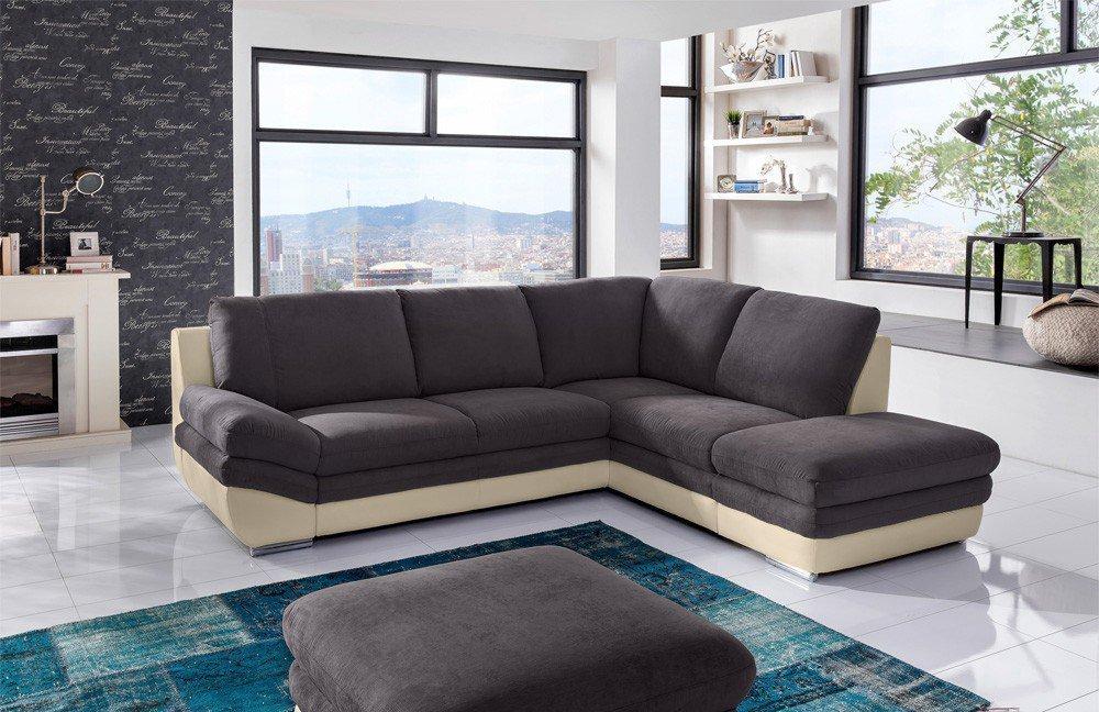 cotta nardo eckcouch braun creme m bel letz ihr online shop. Black Bedroom Furniture Sets. Home Design Ideas