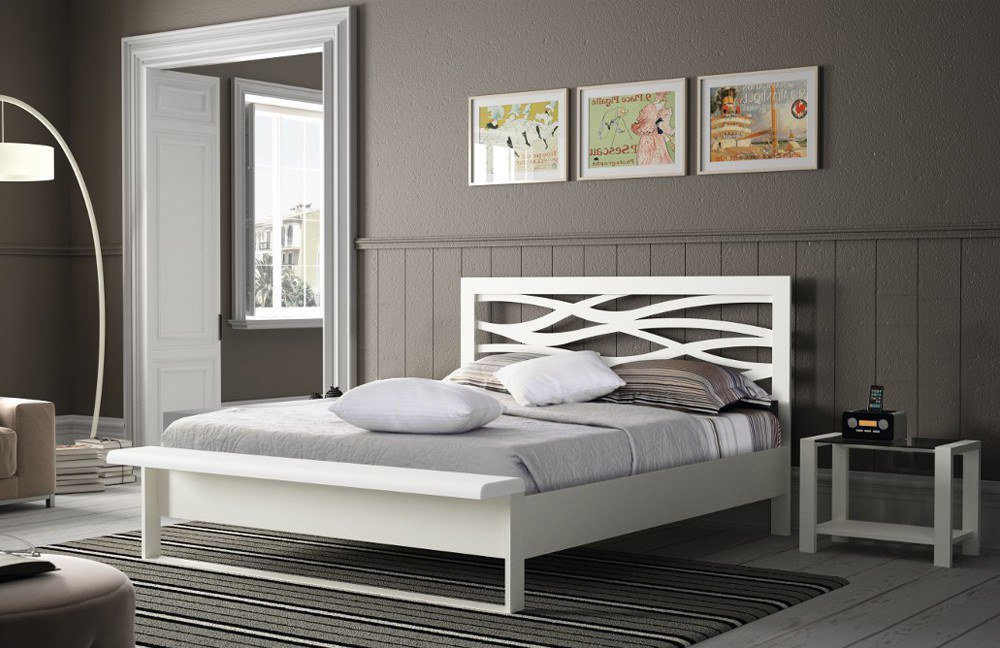 r sistub brio wave metallbett lack wei m bel letz ihr online shop. Black Bedroom Furniture Sets. Home Design Ideas