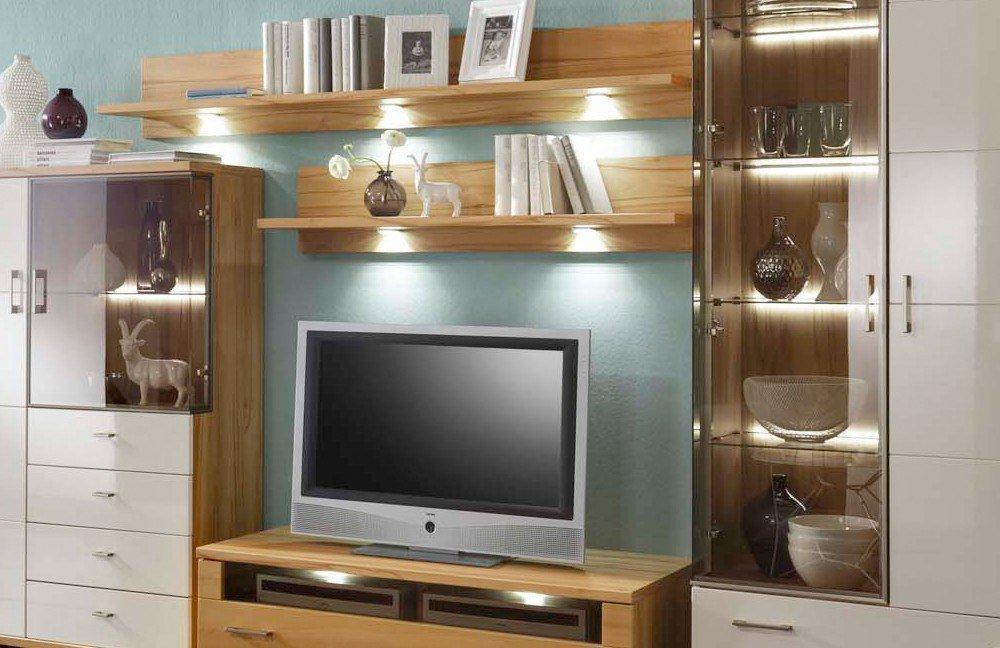 ideal m bel wohnwand preno 12 kernbuche vanille m bel letz ihr online shop. Black Bedroom Furniture Sets. Home Design Ideas