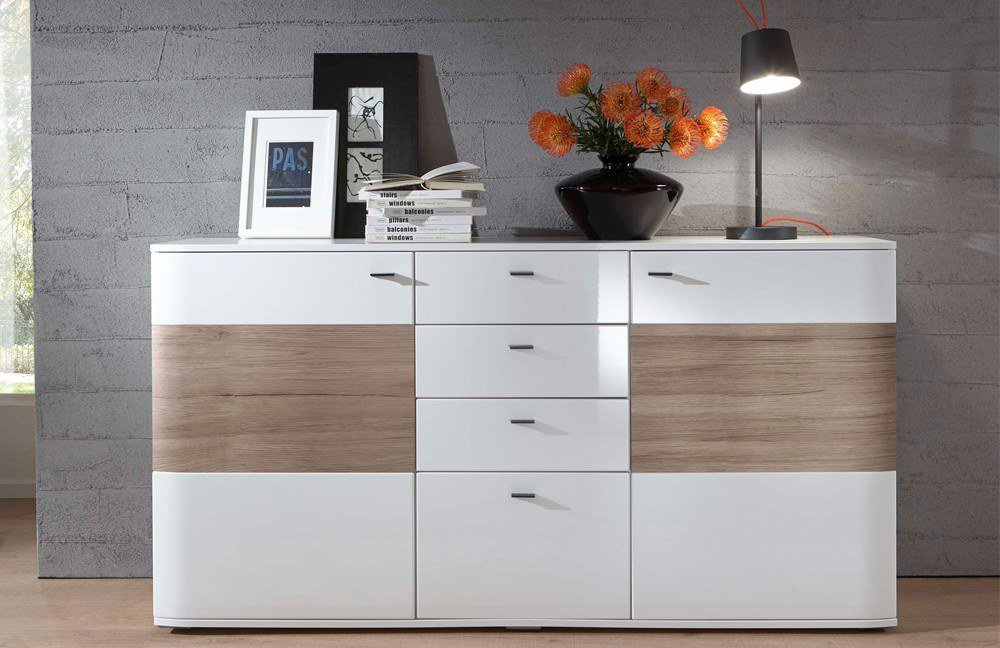 ideal m bel sideboard dallas wei san remo sand m bel letz ihr online shop. Black Bedroom Furniture Sets. Home Design Ideas