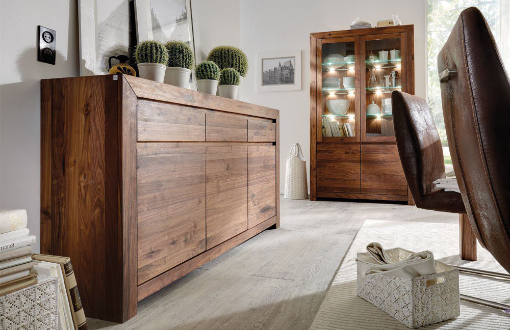 vitrinenschrank tjabo von pure natur m bel letz ihr online shop. Black Bedroom Furniture Sets. Home Design Ideas