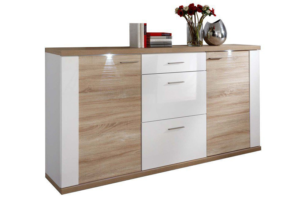 ideal m bel sideboard manhattan eiche wei m bel letz ihr online shop. Black Bedroom Furniture Sets. Home Design Ideas