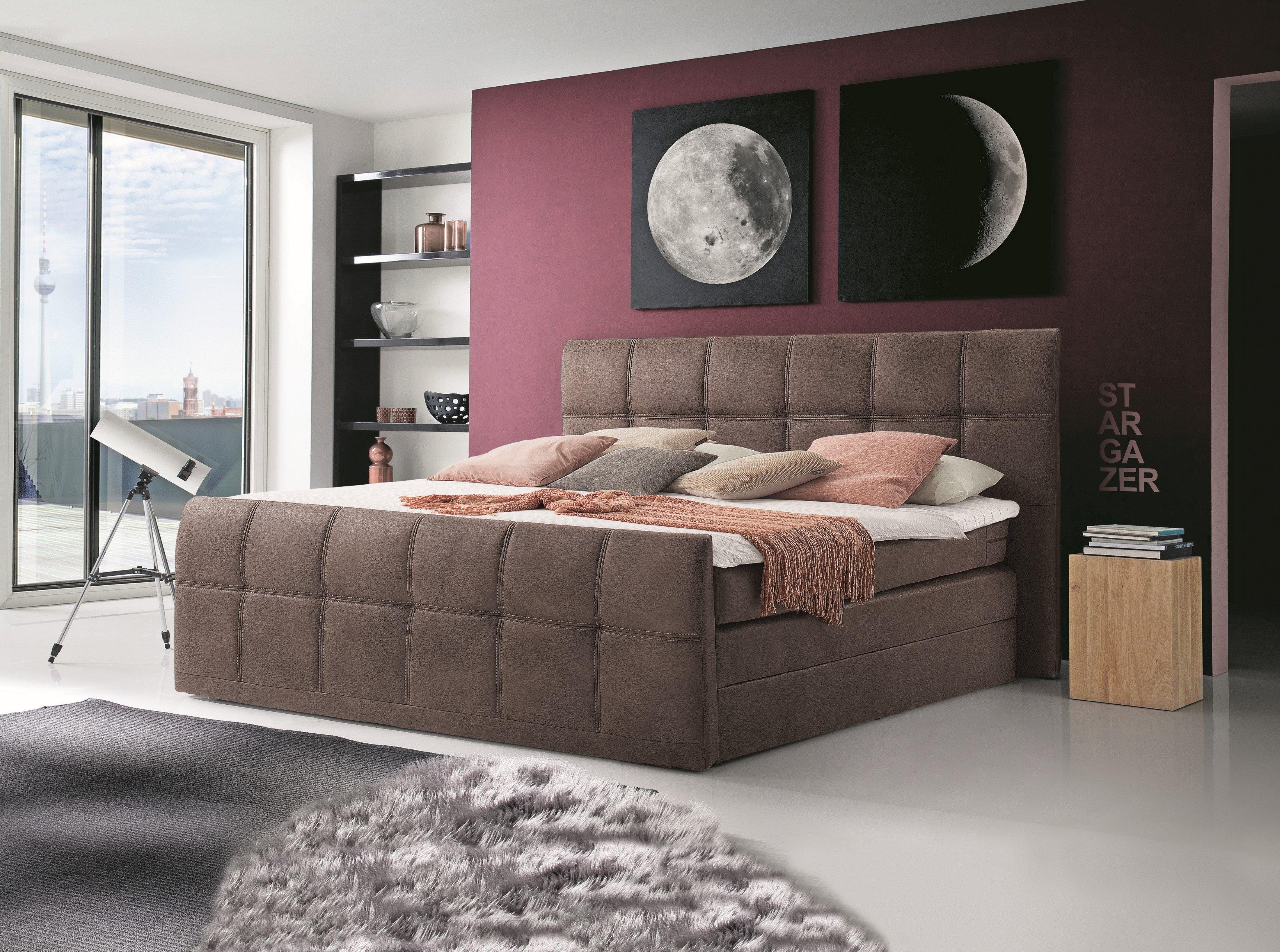 black red white aspen boxspringbett ca 180 x 200 cm m bel letz ihr online shop. Black Bedroom Furniture Sets. Home Design Ideas