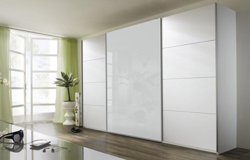Rauch Quadra Schrank weiß Glas brombeer | Möbel Letz - Ihr Online-Shop
