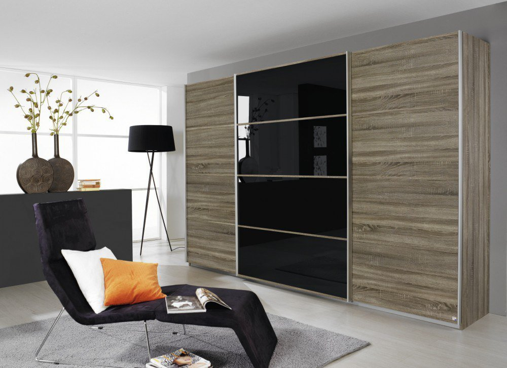 rauch quadra eiche havanna glas schwarz m bel letz ihr online shop. Black Bedroom Furniture Sets. Home Design Ideas