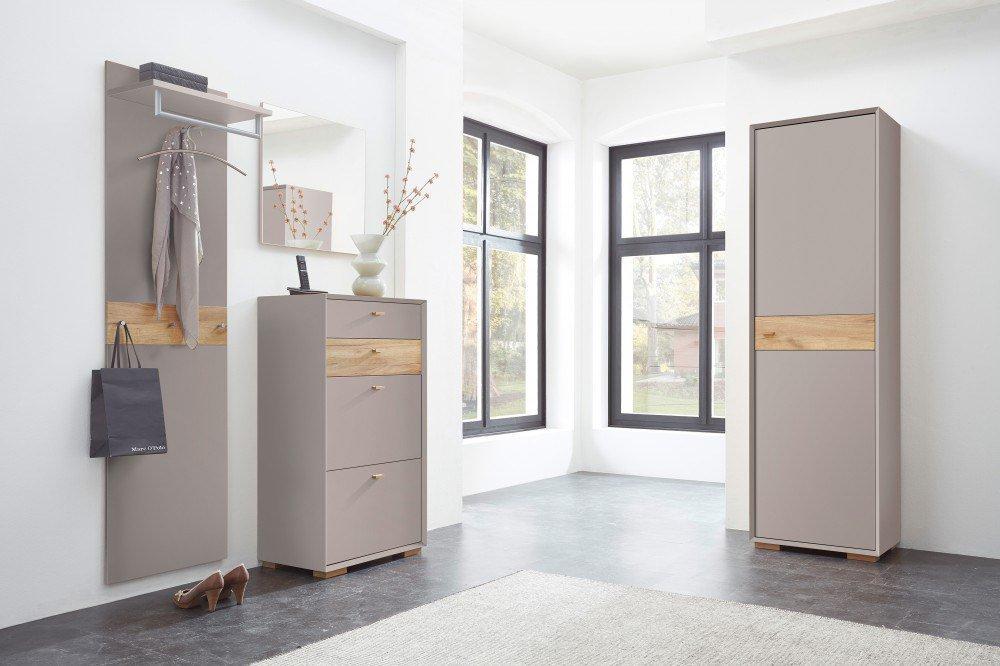 Germania garderobe calvi grau m bel letz ihr online shop for Garderobe 3 teilig