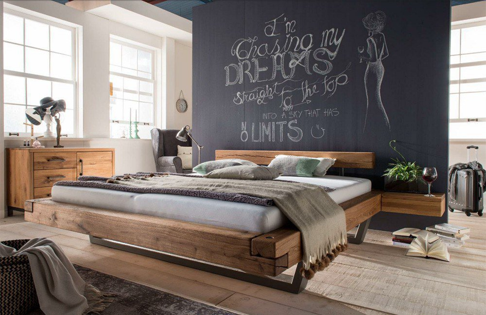 pure natur ericson balkenbett wildeiche teil massiv m bel letz ihr online shop. Black Bedroom Furniture Sets. Home Design Ideas