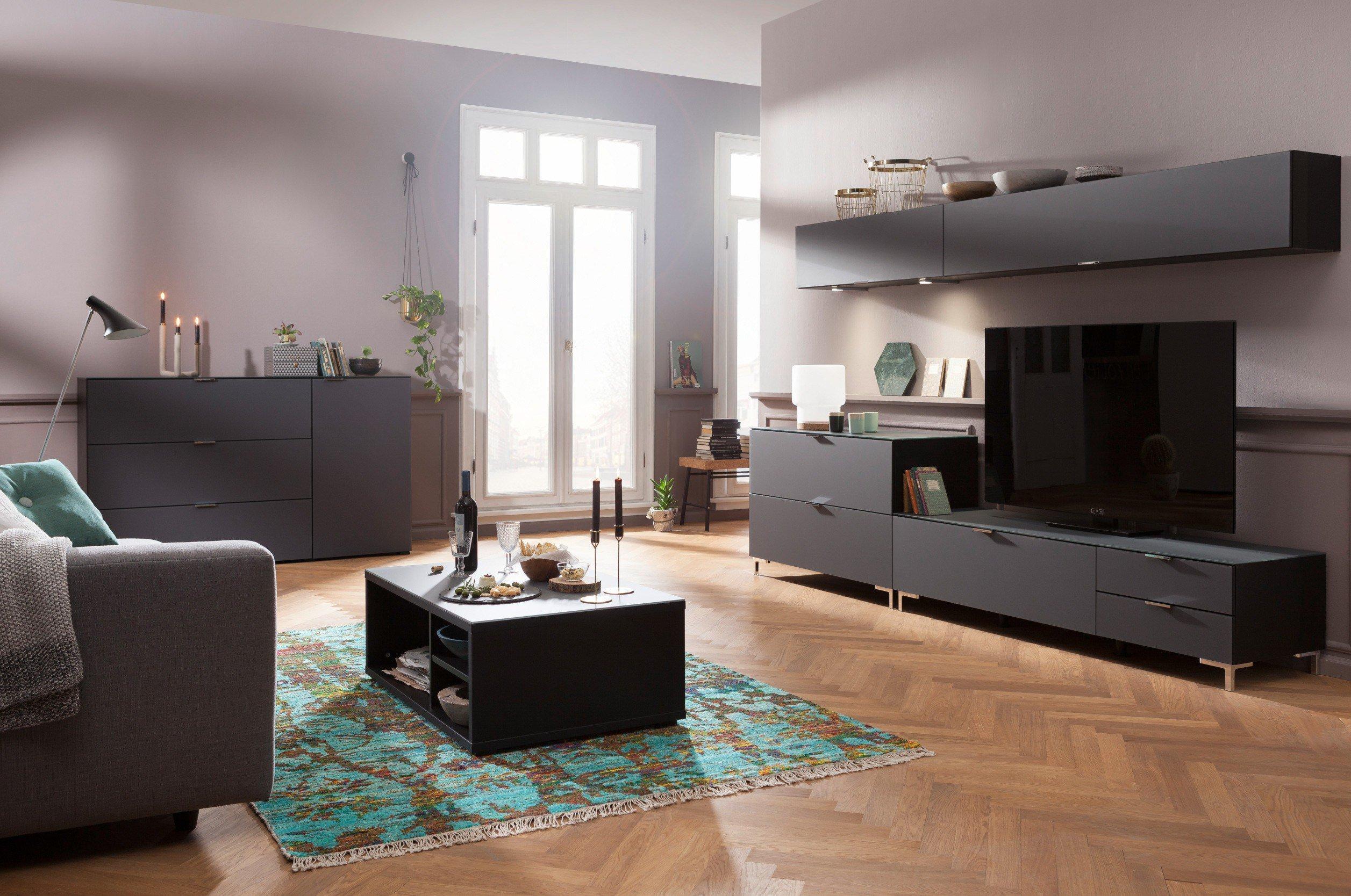 graue wohnwand stunning modern wei grau hochglanz rheumri. Black Bedroom Furniture Sets. Home Design Ideas