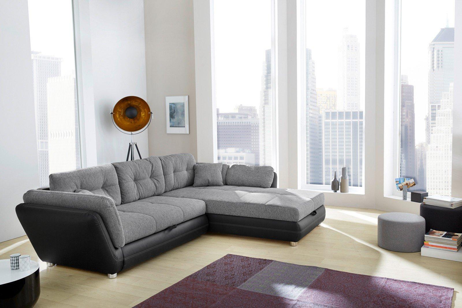 jockenh fer java ecksofa grau schwarz m bel letz ihr online shop. Black Bedroom Furniture Sets. Home Design Ideas