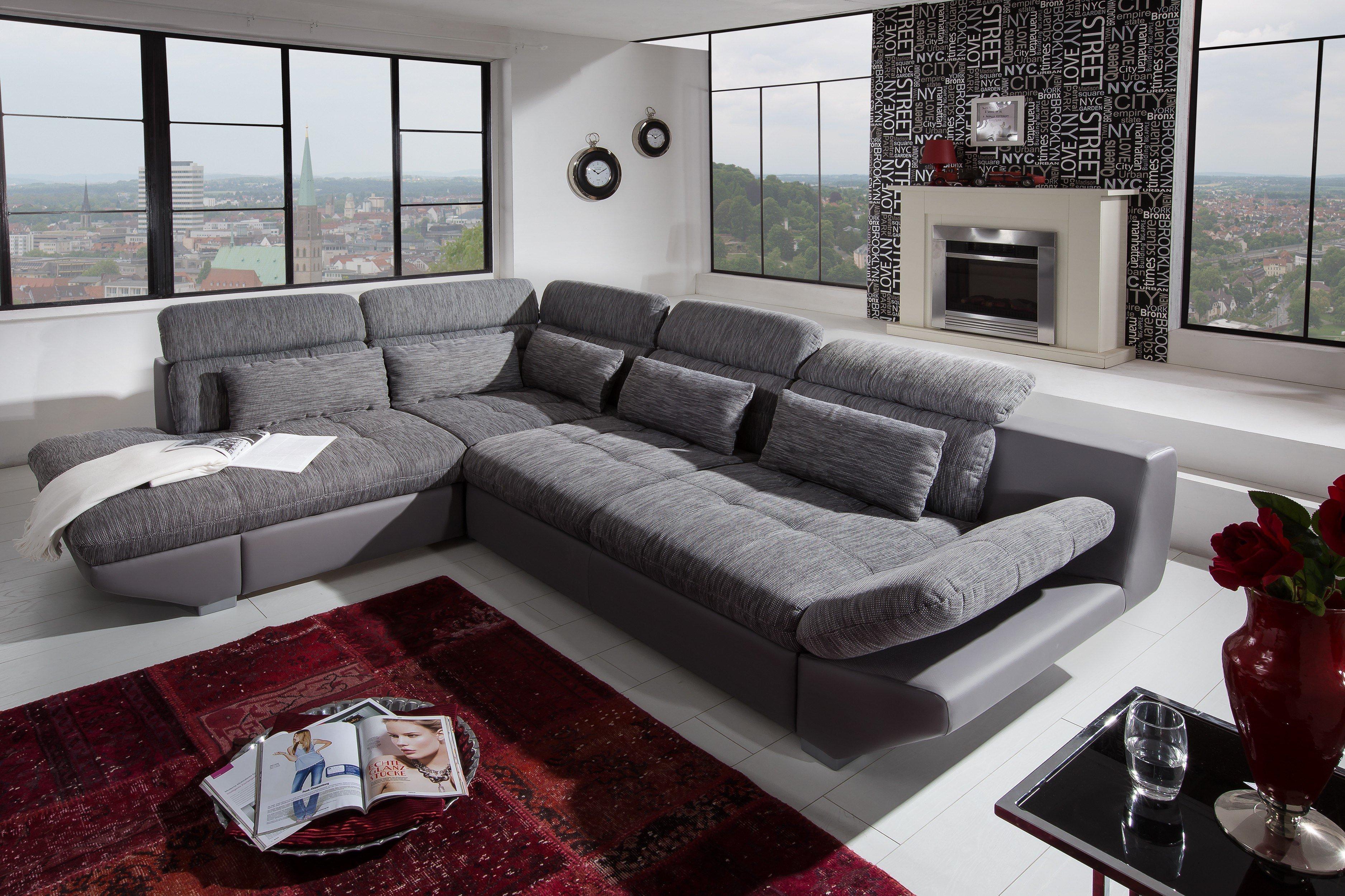 cotta eternity polstergarnitur in grau m bel letz ihr online shop. Black Bedroom Furniture Sets. Home Design Ideas