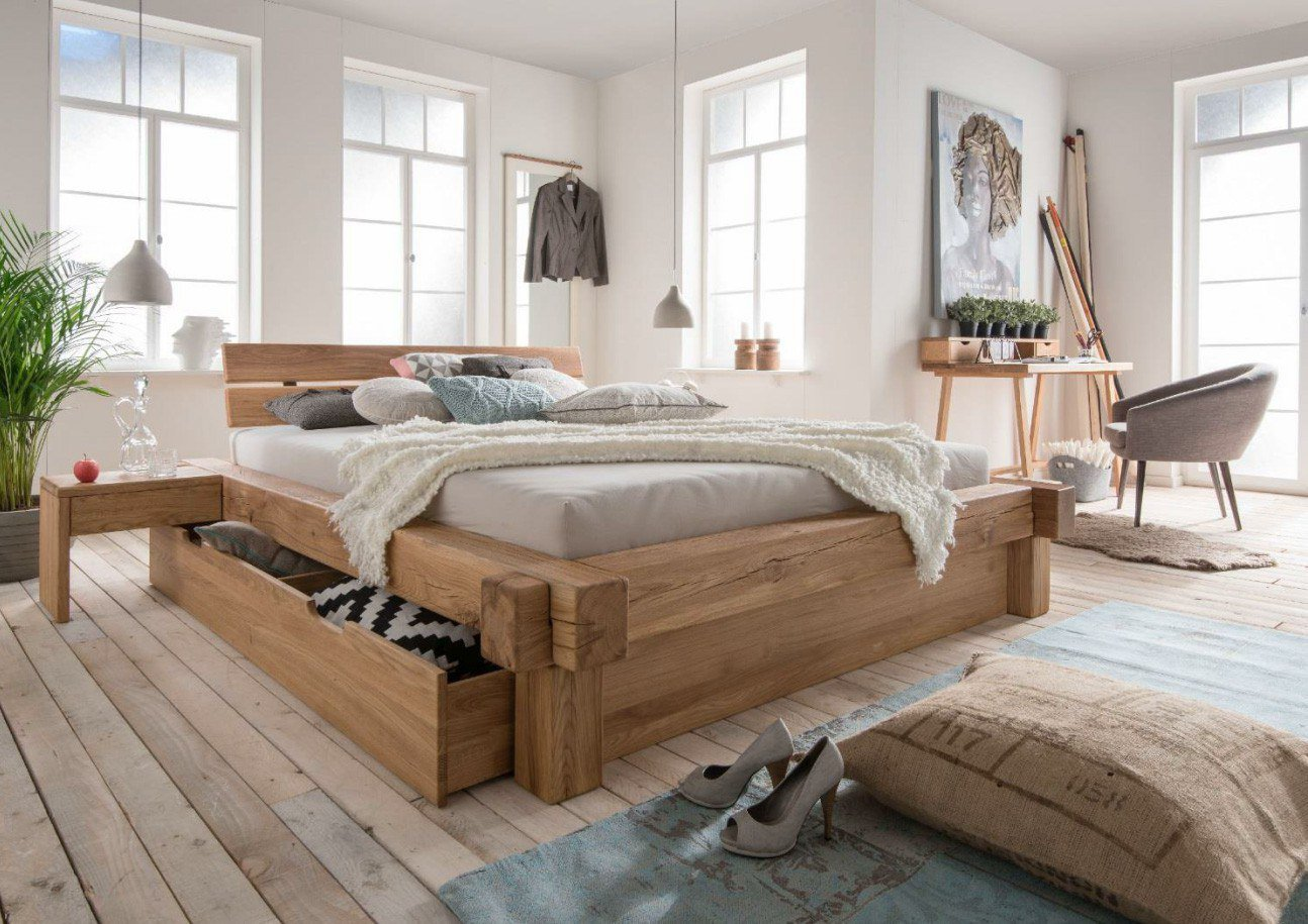 balkenbett ii wildeiche bettkasten set m bel letz ihr online shop. Black Bedroom Furniture Sets. Home Design Ideas