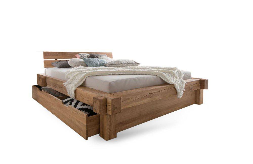 balkenbett ii wildeiche bettkasten set m bel letz ihr. Black Bedroom Furniture Sets. Home Design Ideas