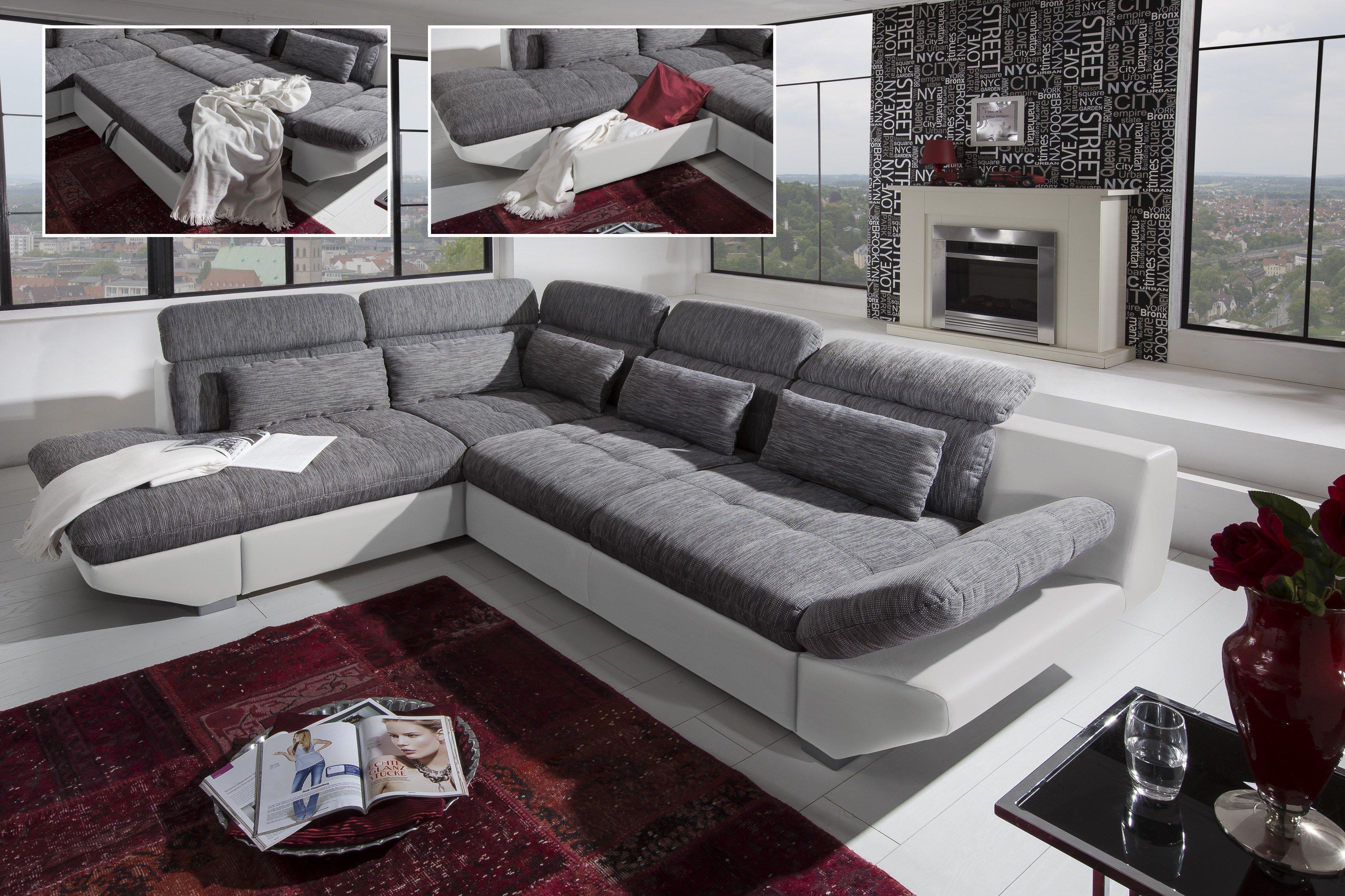 COTTA Eternity Eckgarnitur in Grau-Weiß | Möbel Letz - Ihr Online-Shop