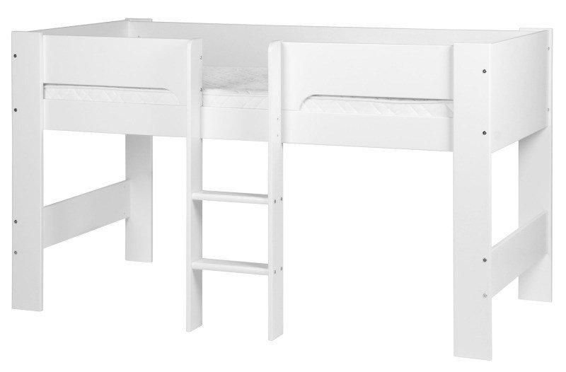 flexa basic halbhohes bett modern wei m bel letz ihr. Black Bedroom Furniture Sets. Home Design Ideas