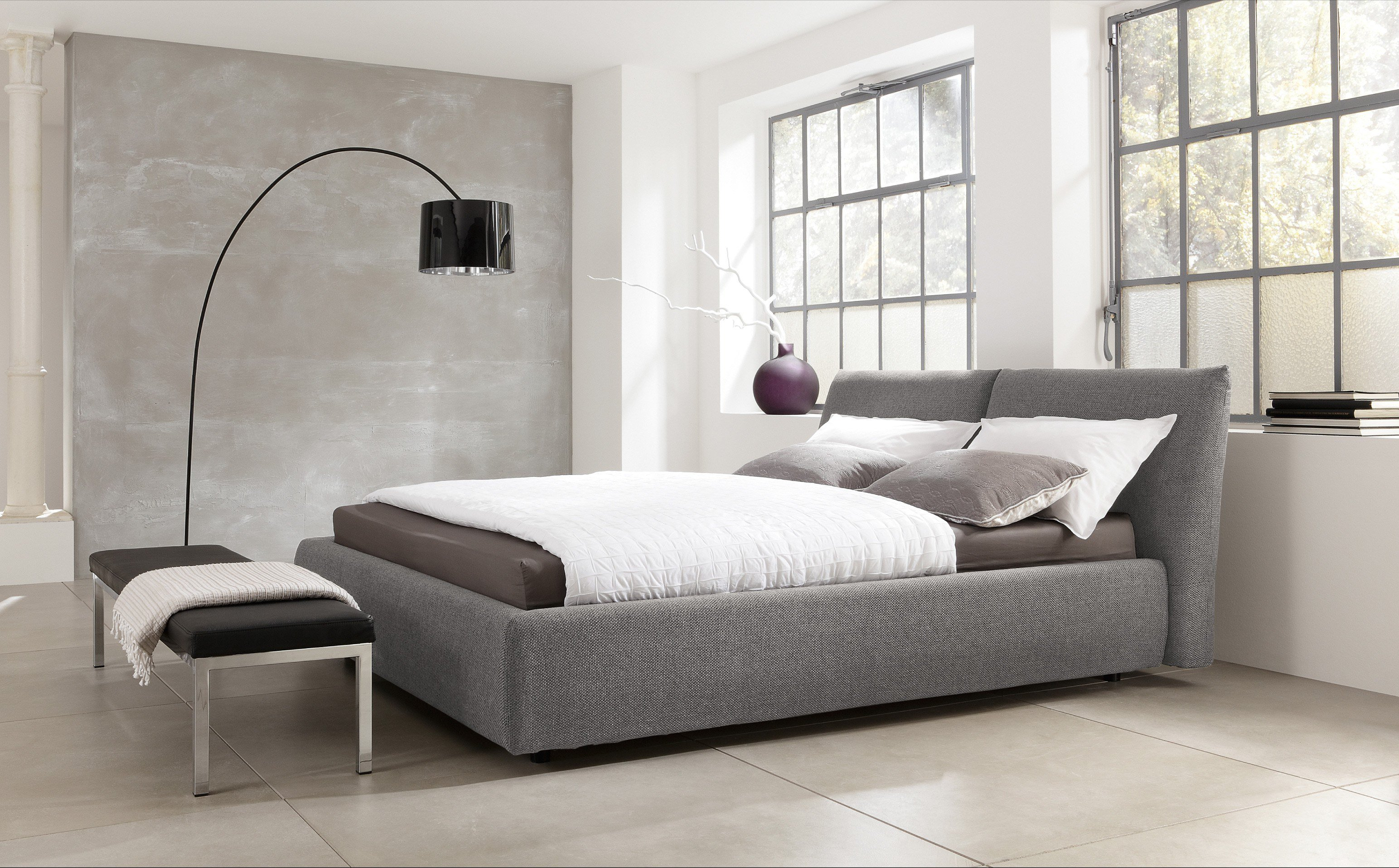 in domo polsterbett in silver grey m bel letz ihr online shop. Black Bedroom Furniture Sets. Home Design Ideas
