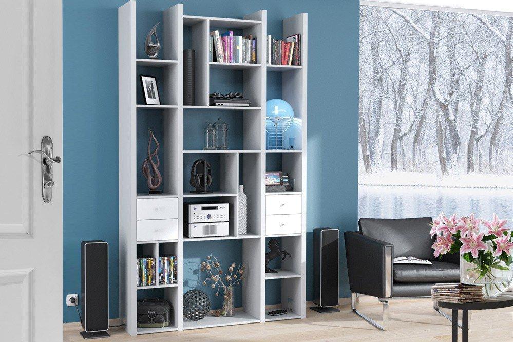 maja m bel wandregal cableboard 6030 platingrau wei. Black Bedroom Furniture Sets. Home Design Ideas