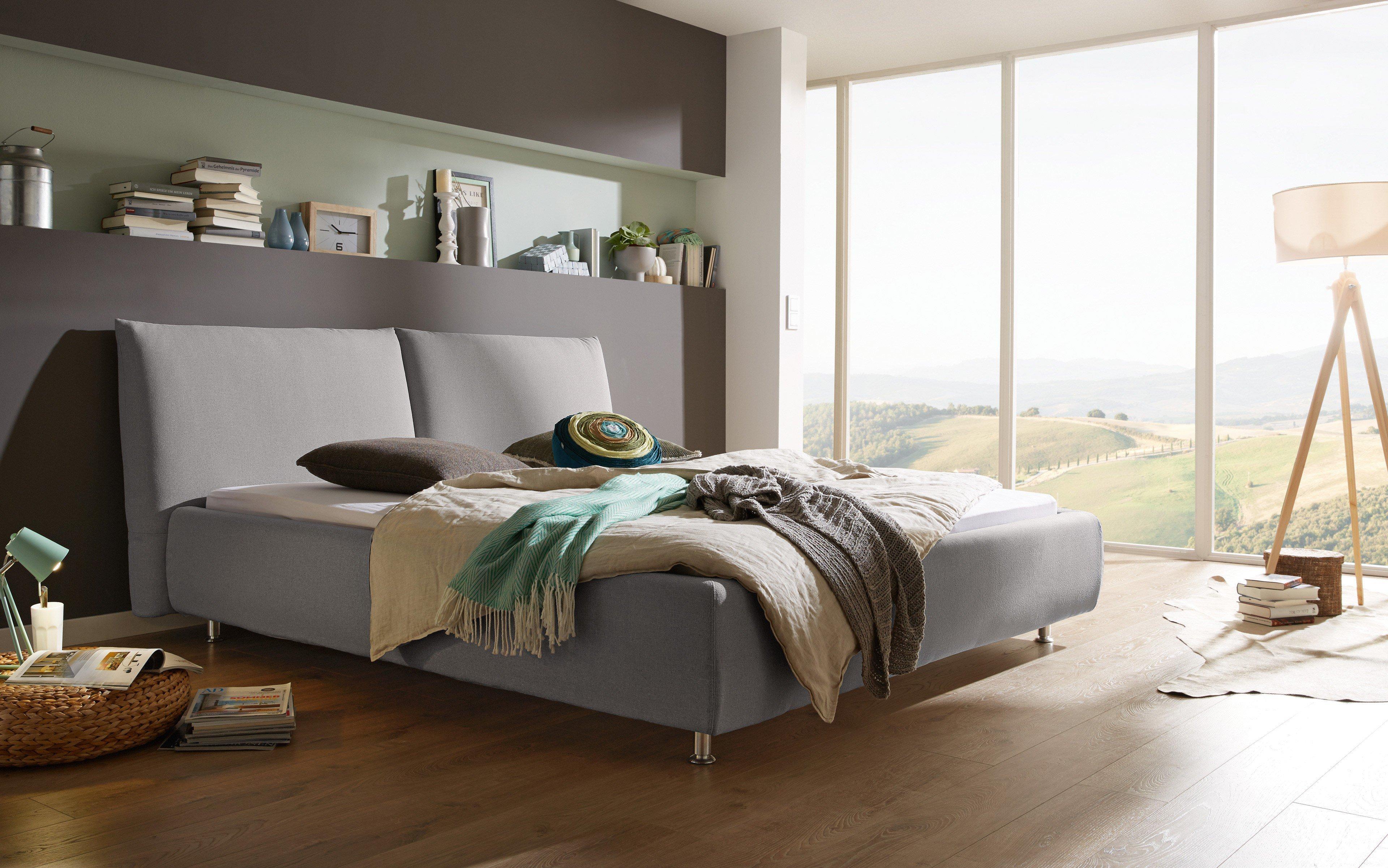 in domo id 504 polsterbett im dezenten grau m bel letz ihr online shop. Black Bedroom Furniture Sets. Home Design Ideas