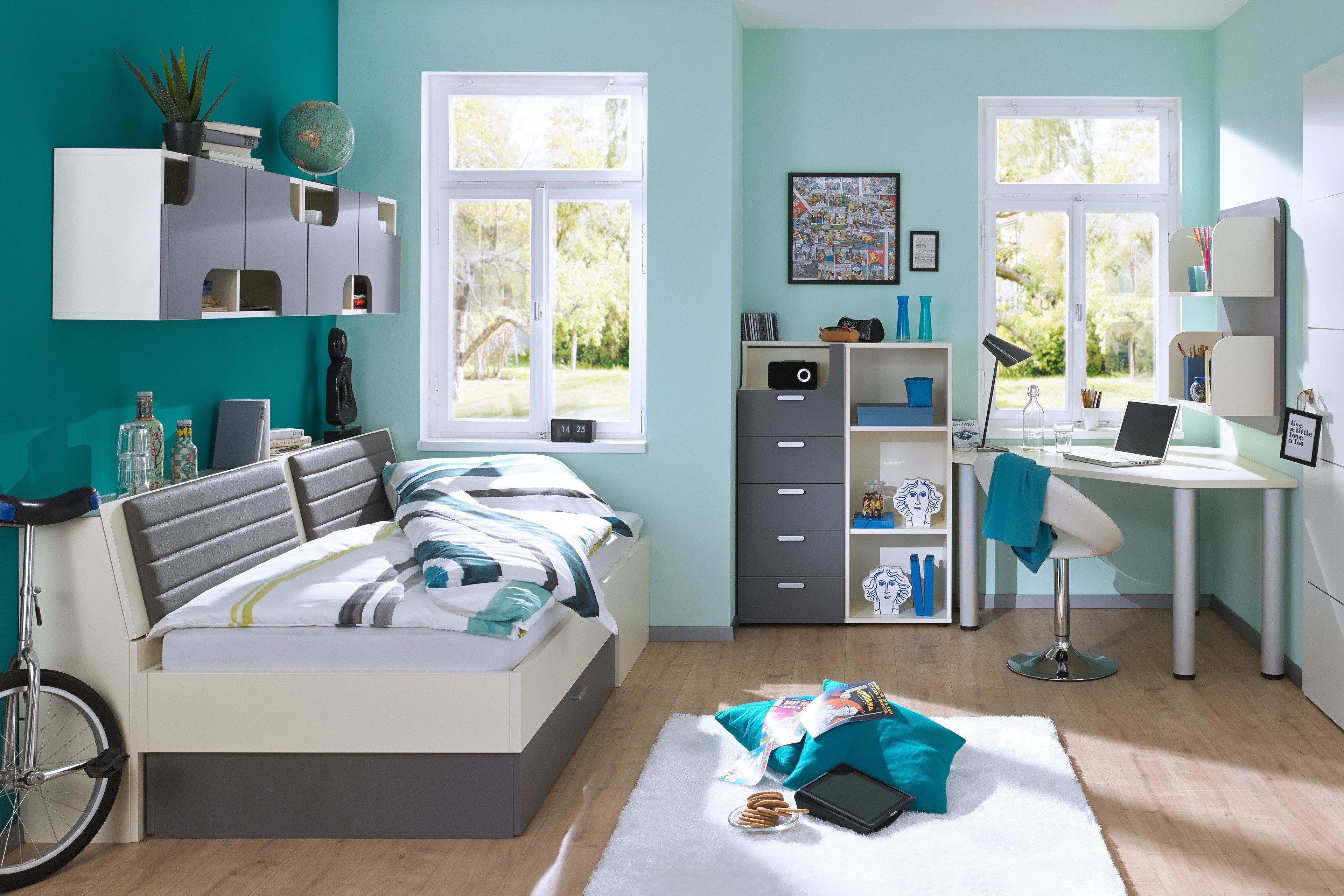 rudolf max i bett cremewei felsgrau m bel letz ihr online shop. Black Bedroom Furniture Sets. Home Design Ideas