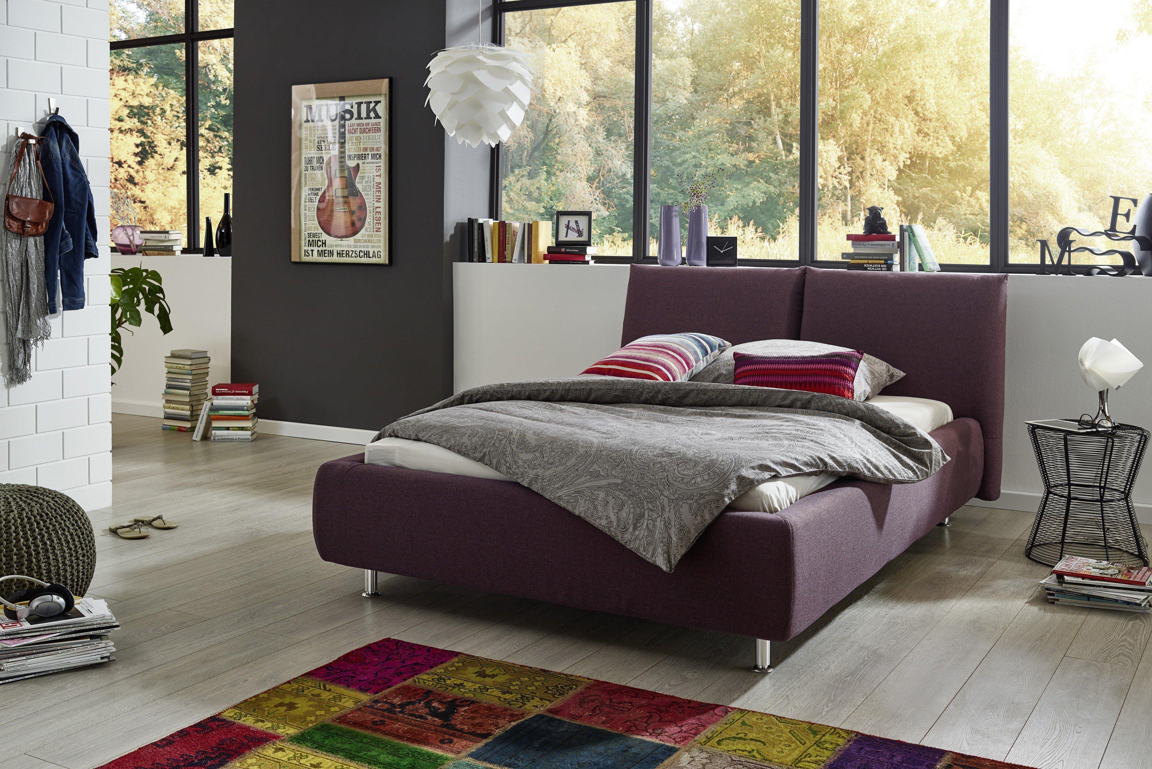 in domo ID.504 Polsterbett in Lila | Möbel Letz - Ihr Online-Shop