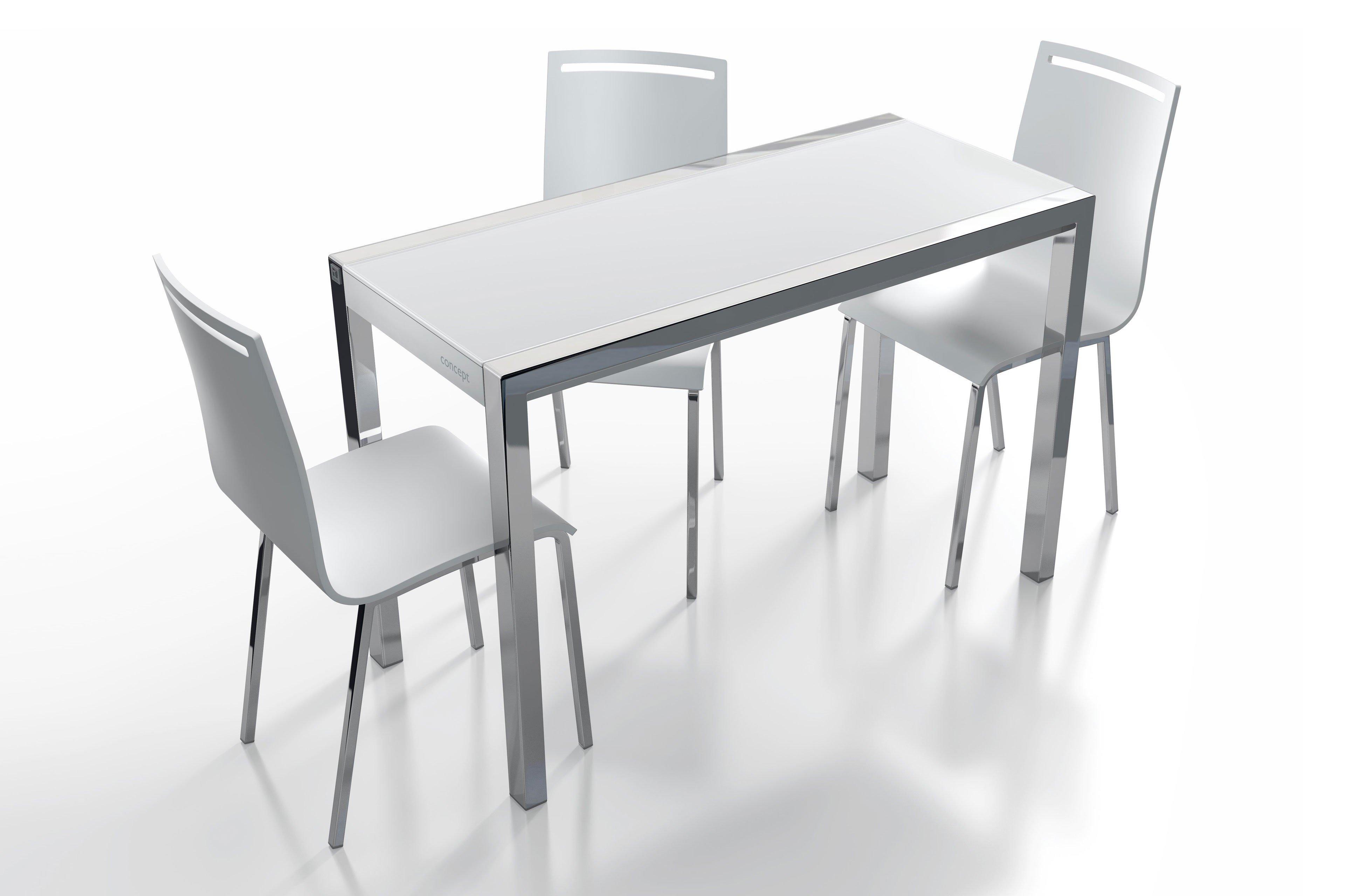 Esstisch glas weiß  Esstisch Concept Minor Glas weiß/ Aluminium von CANCIO | Möbel ...