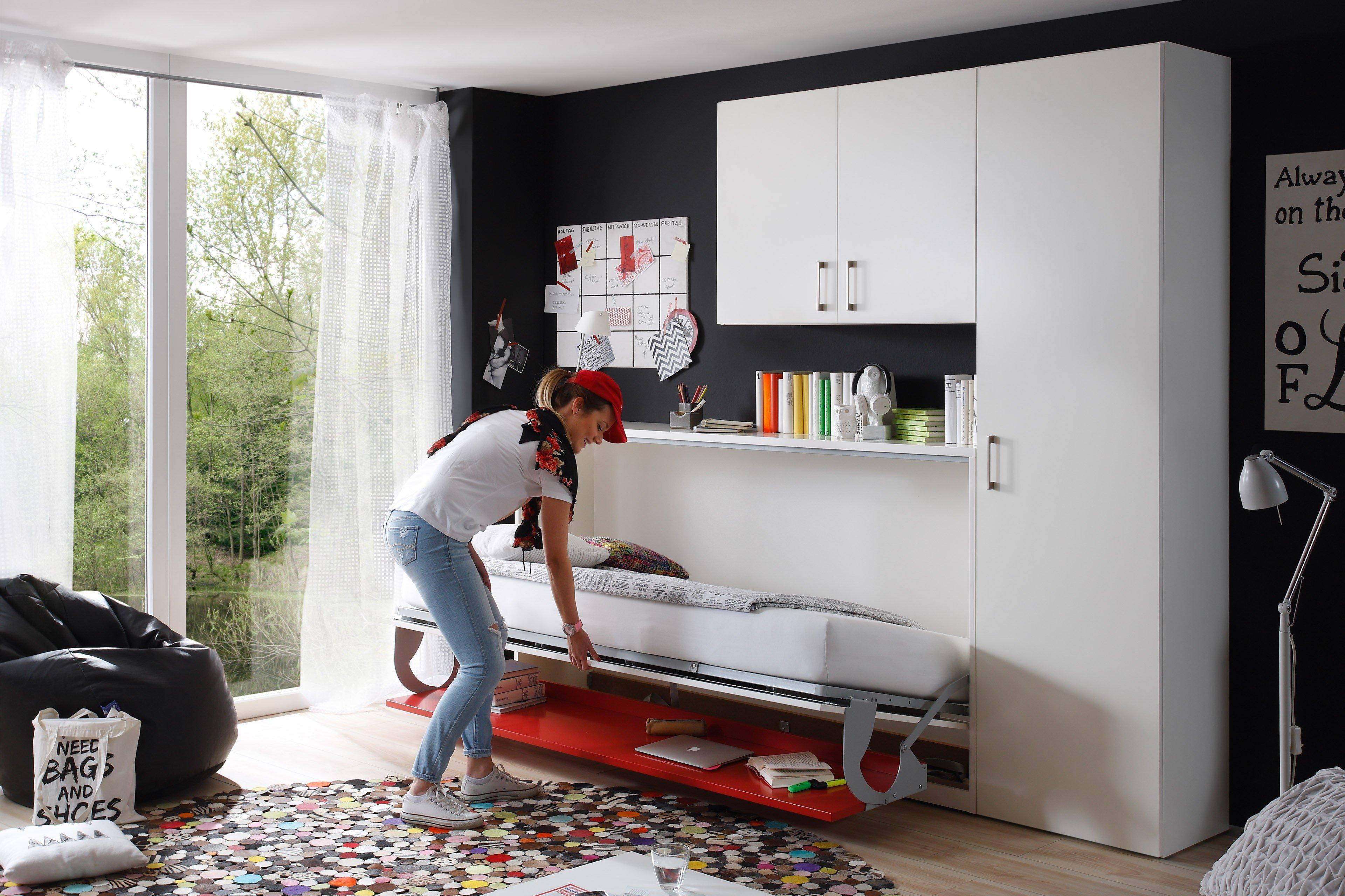 Nehl 2weiraumwunder Schrankbett weiß rot | Möbel Letz - Ihr Online ...
